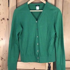 J. Crew v neck cardigan sweater in kelly green